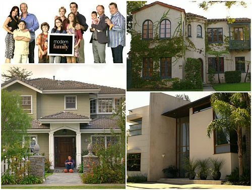 The Emmy award-winning sitcom Modern Family is about an unconventional extended family in California, filmed mockumentary-style. Not only is it funny, must-see TV, but the houses of the three famil...
