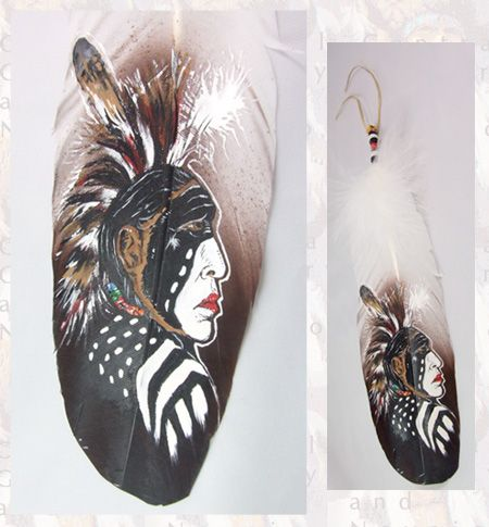 painted feathers front