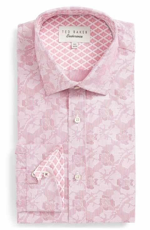 50a40e9344b1 Ted Baker London Orlov Trim Fit Floral Dress Shirt