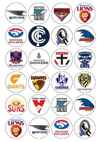 AFL NRL 24 X Cupcake Toppers Edible Images   eBay