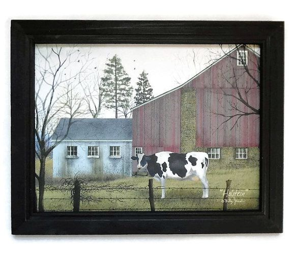 Country home decor, imprimer « Holstein » Billy Jacobs, décor de cuisine, décor…