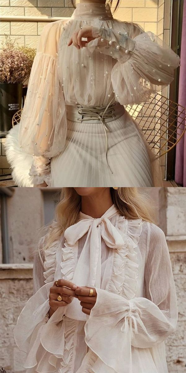 White Lace Blouses For Woman