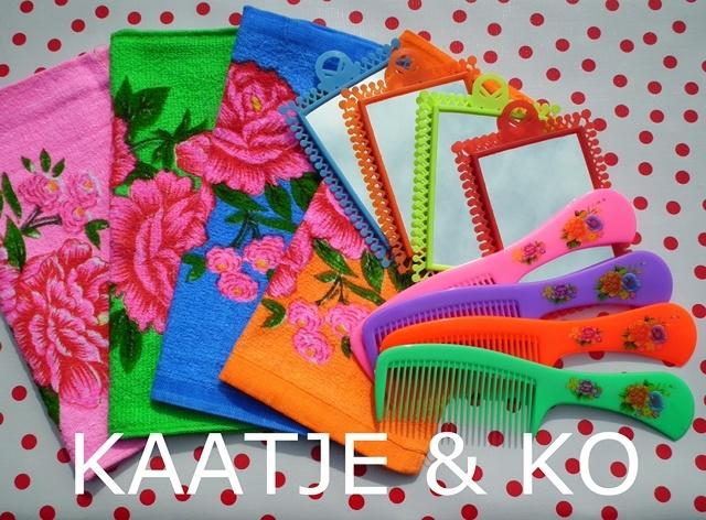 Hippe gezichtsdoekjes, per set van 4. Super in combinatie met retro kam, spiegeltje, badmat, wasmand etc :) www.kaatje-en-ko.com
