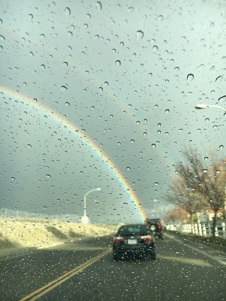 This was one of the coolest pictures I took. There was a rainbow when my aunt was driving me home from school and we went straight through it. No pot of gold tho :( haha the rain effect makes it look awesome