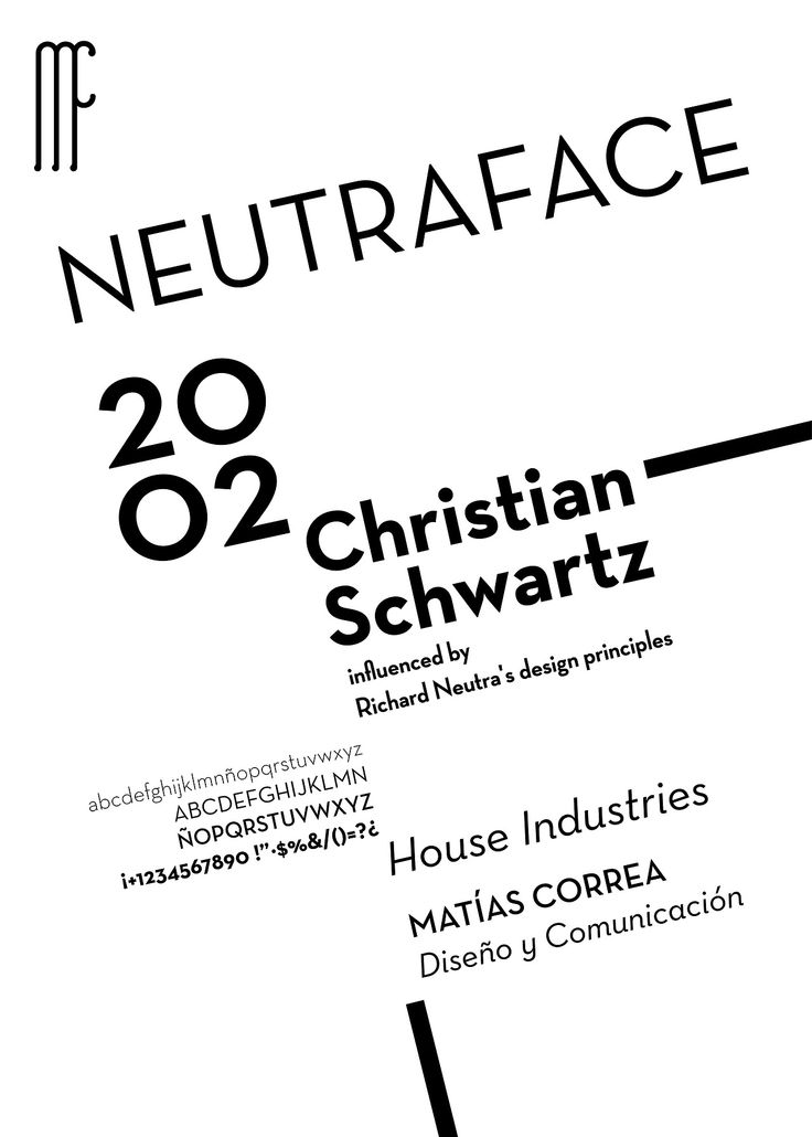 Neutraface - Afiche :: by Matías Correa