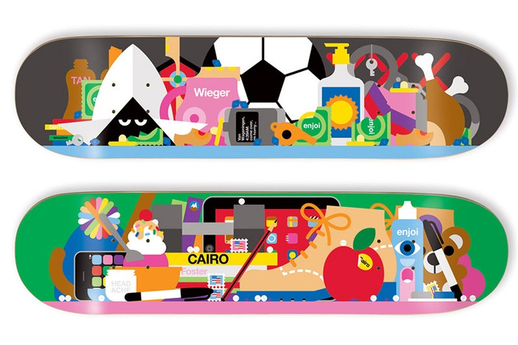 Enjoi Skateboard Decks by Craig & Karl #skate #board #play