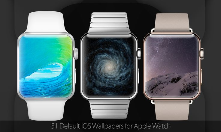 ALL iOS7 - iOS8 - iOS9 default wallpapers optimized for  Watch