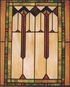 Prairie style stained glass window P5