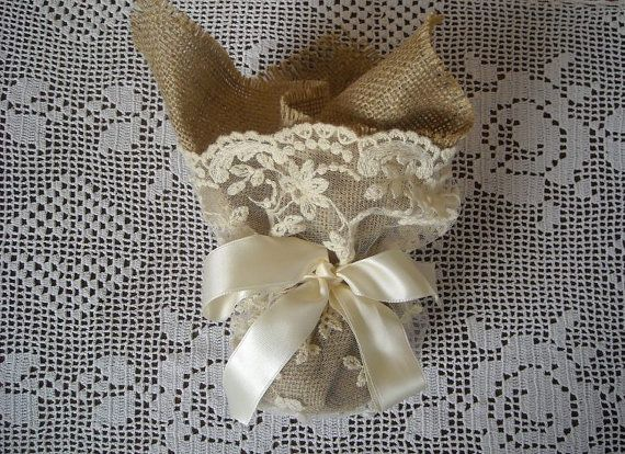 Lace and burlap wedding or bridal shower by FavorsAndMorebyFiona, $4.70