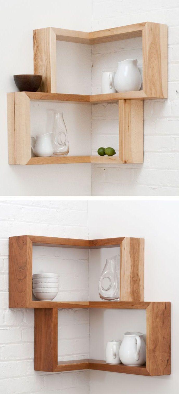 Corner Shelf | Brilliant Design Idea For An Awkward Empty Corner
