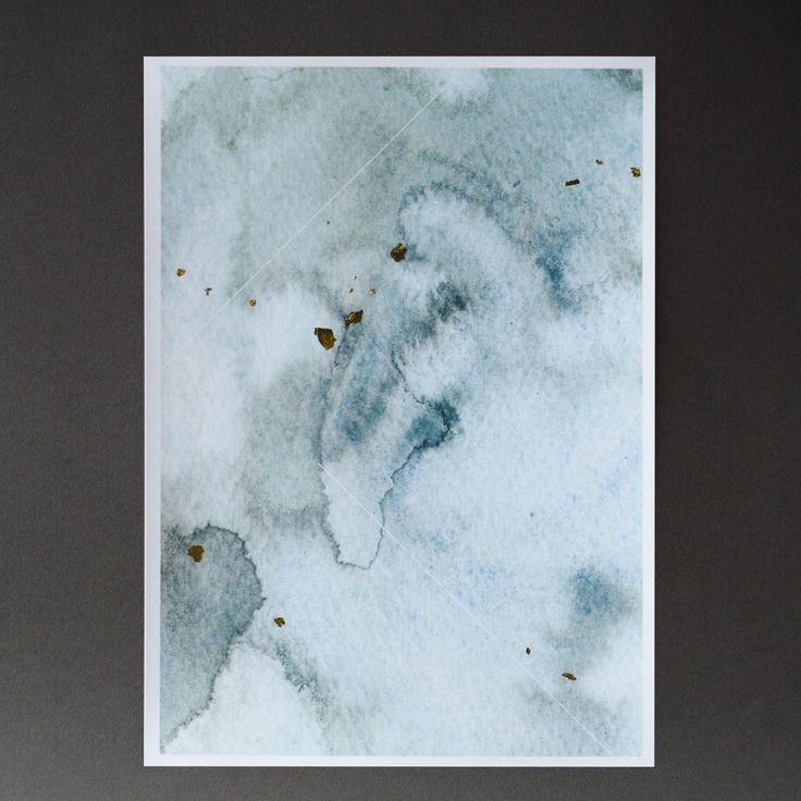 Blue Water Print
