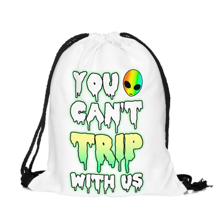 You Can't Trip With Us Draw String Bag £8 // Free UK Delivery  https://www.teeisland.co.uk/shop/you-cant-trip-with-us-draw-string-bag/