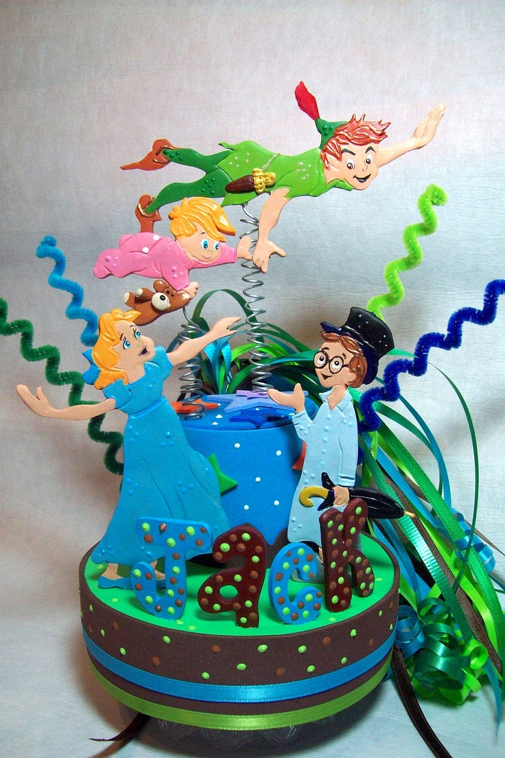 Peter pan Birthday cake topper with Pirates from www ...