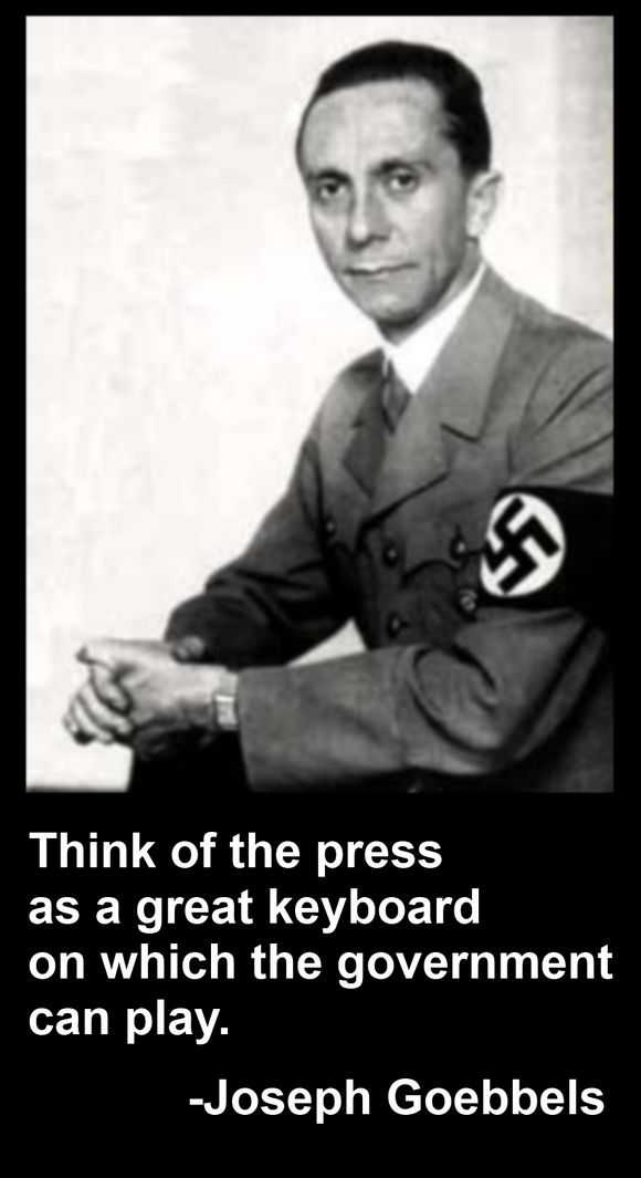 Image result for goebbels the press