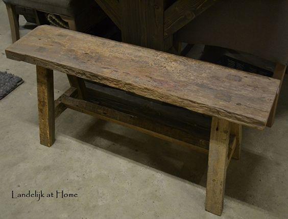 25 beste idee n over houten bankjes op pinterest bankjes eetkamer bank en meubilair - Exotisch onder wastafel houten meubilair ...