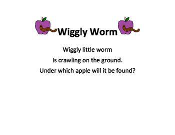 Apple & Wiggly Worm FREEBIE Color Activity Color