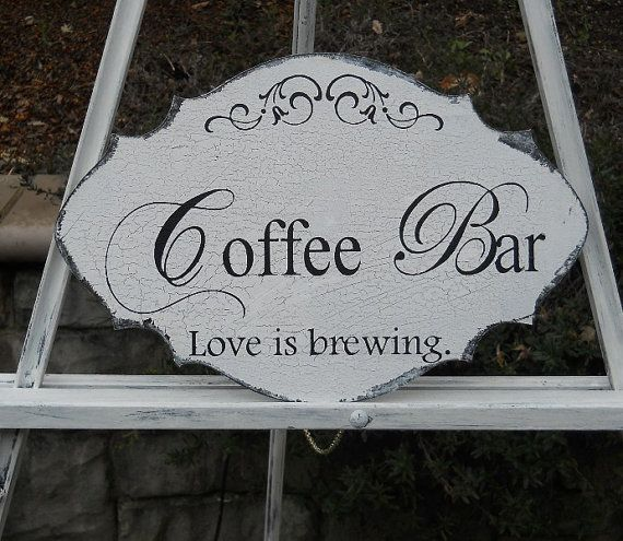 COFFEE BAR Wedding Sign Table Sign Wedding Decor by PucoBesh, $21.00 |