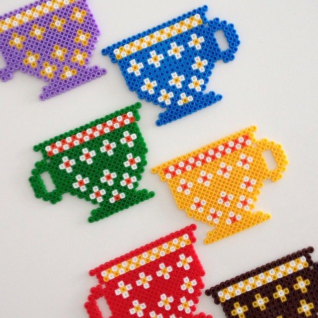 Cup coasters hama beads by fkdeko