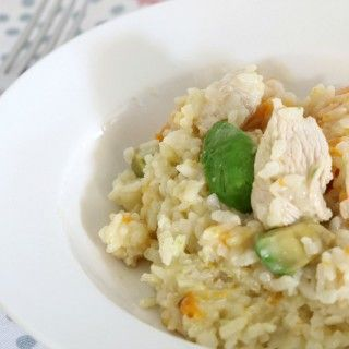 Keep the whole family happy with this delicious Thermomix Chicken, Avocado & Pumpkin Risotto!