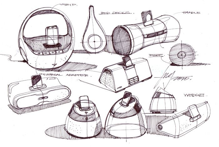 sketch-a-day-221 ipod dock