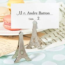 Perfectly Parisian Eiffel Tower Memo/Place Card Clips @ www.weddingfavoursaustralia.com.au