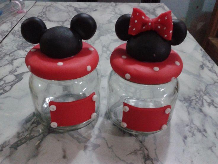 Frasco Golosinero Minnie Mickey - $ 36,00 en MercadoLibre
