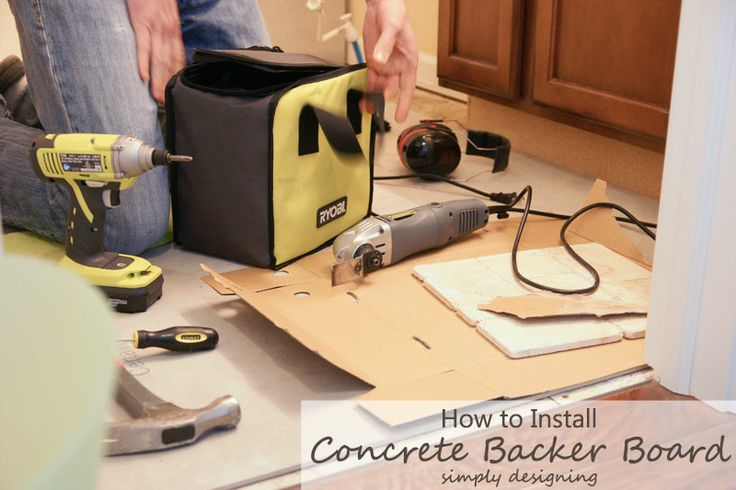 How to Install Concrete Backer Board {Tile Installation: Part 2}