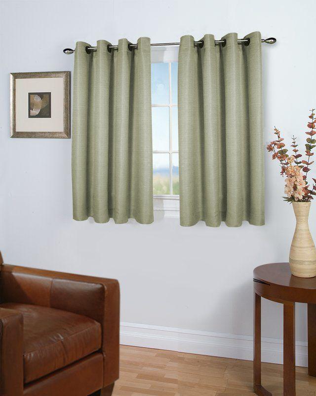 August Grove Bluefield Short Solid Room Darkening Grommet Single Curtain Panel Reviews Wayfair Curtains Livingroom Layout Striped Room