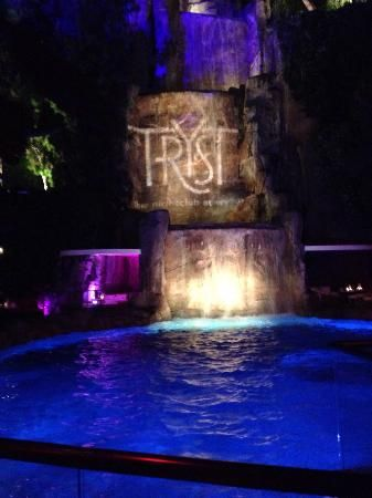 View from table of the waterfall inside Tryst night club. Las Vegas - Attraction Reviews - TripAdvisor #MyTripAdvice