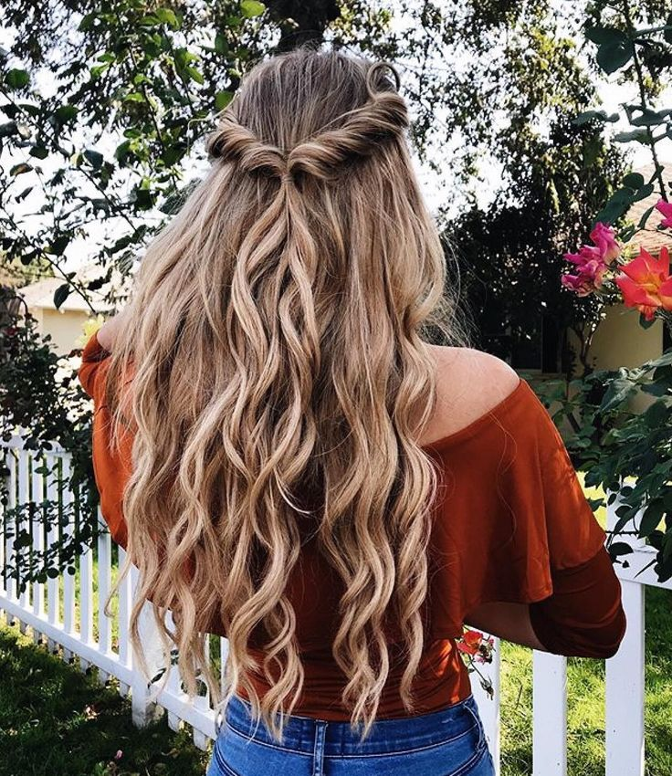 twists   long curly hairstyle   highlights   balayage   honey dirty blonde   hal…
