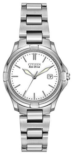 Citizen Women's Quartz Watch with Analogue Display and Stainless Steel Bracelet