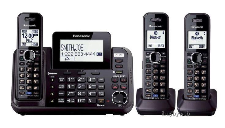 Panasonic KXTG9542B 2 Line 3 Cordless Phones w/Link to