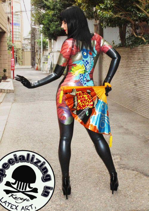colorfulkink: Model: Anastasia Volodina Catsuit: Kurage...