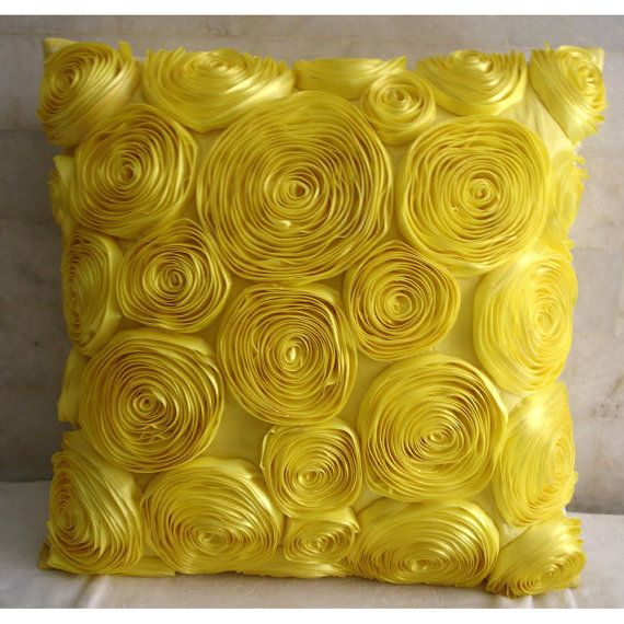 Sun Blooms  Euro Sham Covers  26x26 Inches Euro by TheHomeCentric