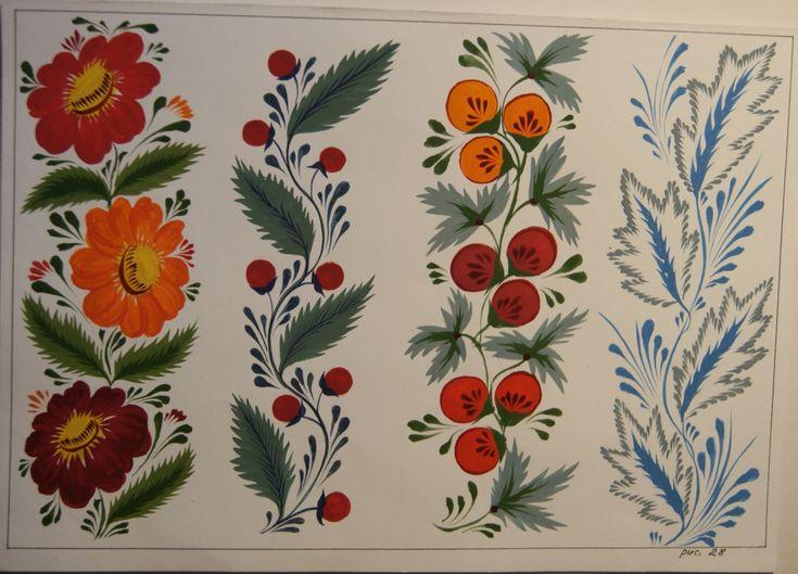 Ukrainian Petrkivka folk art, петриківський розпис.