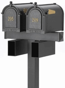 Side Mount Double Mailbox Package (Post ONLY - Mailboxes and Parts Purchased Separately)