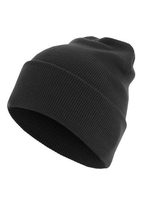 Czapka Master Beanie Basic Flap Long Version black