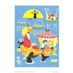 Moomin Poster Toffle & Miffle Tove Jansson 24 x 30 cm