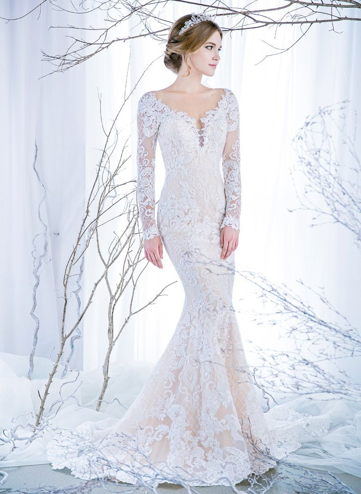 Long sleeves lace gown with a illusion low back for a sexy mermaid bride | Wedding Dresses |  Bridal Boutique Singapore | Wedding Gown Singapore | Wedding Dress Singapore | Wedding Package Singapore | Wedding Gown Rental | Wedding Gown Purchase