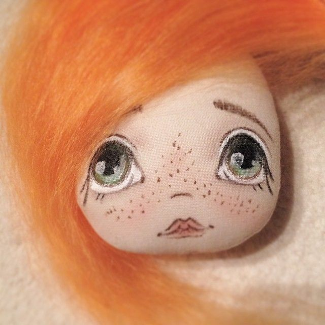 Рыжулька #куколка #кукла #куклаизткани #ручнаяработа #doll #dolls artdoll
