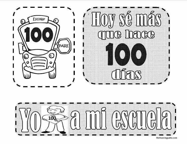100 dias de escuela