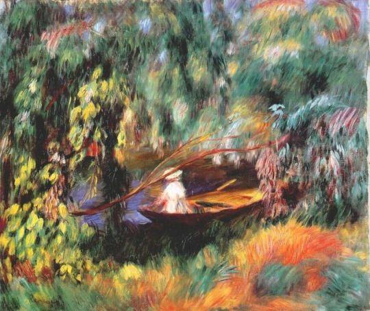 The skiff by Pierre-Auguste Renoir