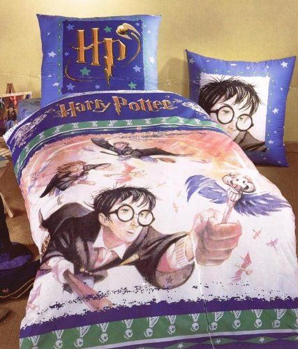 Harry Potter Twin Duvet Cover & Pillowcase Flying Keys Bedding Set Imported From Switzerland @ niftywarehouse.com