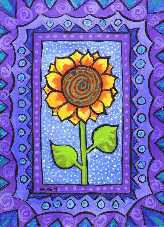 Whimsical Sunflower Print Duffett by AliceinParis on Etsy, $21.00
