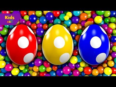 Learn Colors with Surprise Eggs 3D