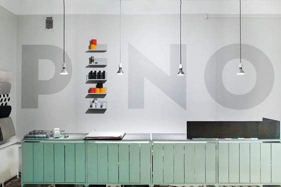 """Pino is a market place for unique, functional and innovative design objects situated in Helsinki. The design and branding concept, created by local-based creative agency Bond, is taken from the name – 'Pino' literally meaning a pile or stack."""