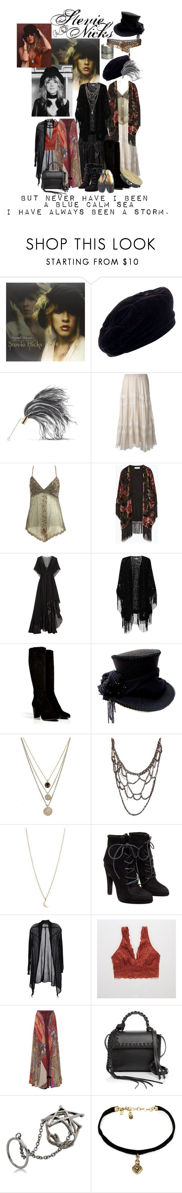"""Stevie Nicks.. Style, music icon"" by mia-christine ❤ liked on Polyvore featuring Yves Saint Laurent, Hillier Bartley, Mes Demoiselles..., Wet Seal, Zara, By Malene Birger, True Decadence, Sergio Rossi, LowLuv and Arielle De Pinto"