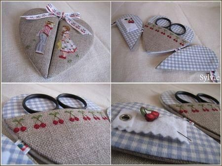 can make a fabric covered heart applique w/ thin cardboard, caft glue, satin and lace trim. put a smaller ruffled heart on large one, fill with diy flowers or millinery flowers, teardrop pearl sprays, bows. gimp trim