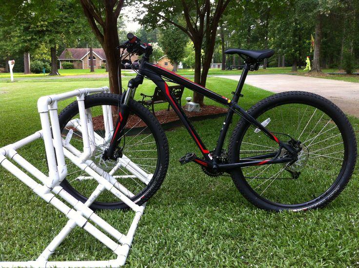 "PVC bike rack, 3/4"" inch pipe and fittings, holds 3 full ..."