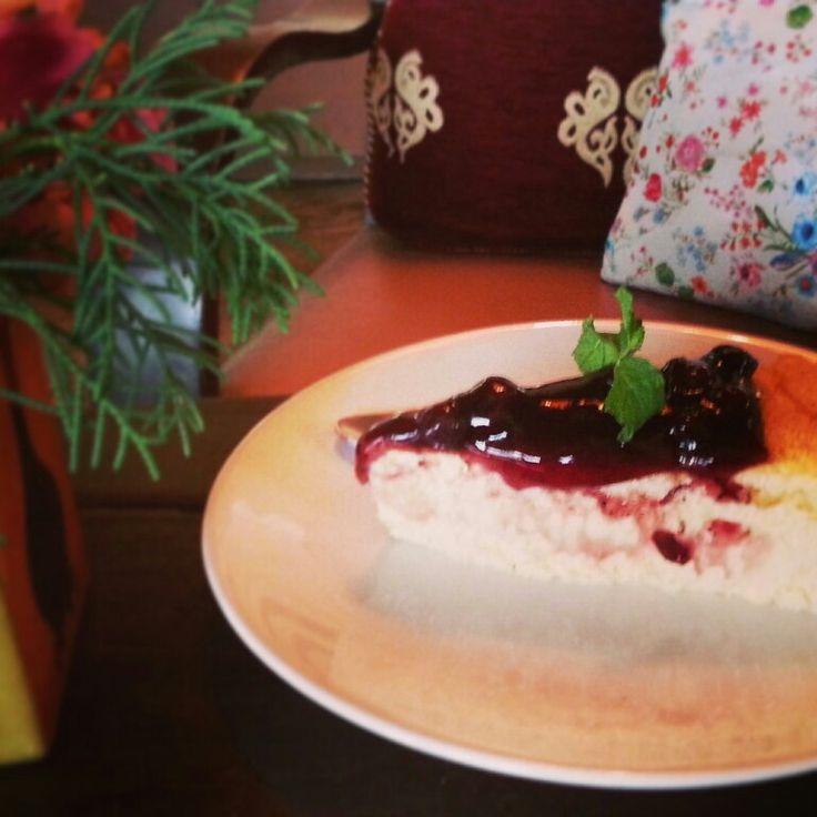 blueburry cheese cake #wawee coffee Maerim